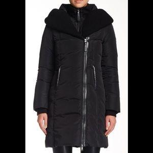 Mackage Brigid Asymmetrical Pillow Collar Coat.
